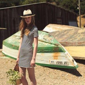 Amour Vert Brigette Striped T-Shirt Dress EUC